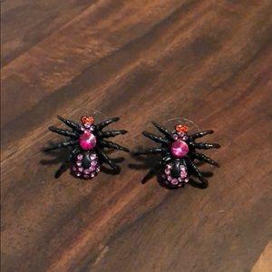 Betsey Johnson Spider Earrings